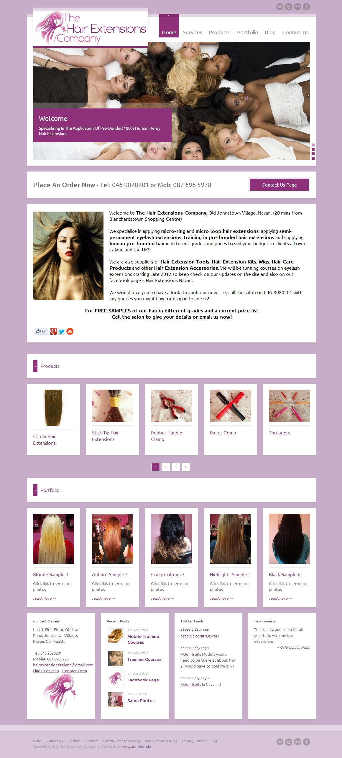 Hair Extensions Company Website